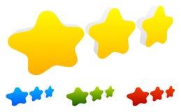 Star, star a avaliação para usar-se como ilustram qualidade, avaliação, recompensa Imagem de Stock