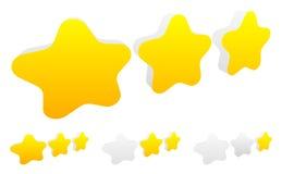 Star, star a avaliação para usar-se como ilustram qualidade, avaliação, recompensa Foto de Stock Royalty Free