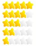 Star, star a avaliação para usar-se como ilustram qualidade, avaliação, recompensa, Imagens de Stock Royalty Free