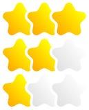 Star, star la valutazione per usare come illustrano qualità, la valutazione, ricompensa Fotografie Stock