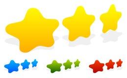 Star, star la valutazione per usare come illustrano qualità, la valutazione, ricompensa Fotografia Stock