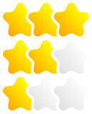 Star, star rating to use as illustrate quality, rating, reward Stock Photos