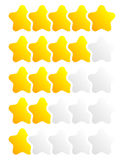 Star, star rating to use as illustrate quality, rating, reward, Royalty Free Stock Images