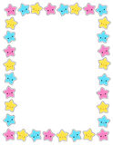 Star / stars border. Cute colorful stars border / frame for greeting cards, party invitation backgrounds etc Stock Photo