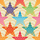 Star stick circle seamless pattern royalty free illustration