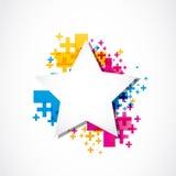 Star sticker positive design Stock Photography
