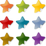 Star stickers Royalty Free Stock Images