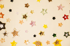 Star stickers plastered Royalty Free Stock Photo