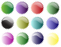 Star Stickers of various colour Royalty Free Stock Photo