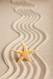 Star sticking out in the sand Stock Photos