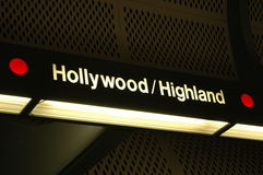 Star Stop. Hollywood/Highland subway stop royalty free stock images
