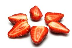 Star of Strawberries Stock Photos