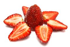 Star of Strawberries Stock Photo