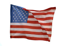Star and stripe of flag Stock Image