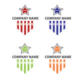 Star and stripe logo Stock Images