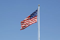 15-star 15-stripe Star Spangled Banner American flag Royalty Free Stock Photos