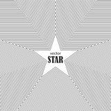 Star striped abstract background. Popularity concept Royalty Free Stock Images