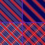 Star striped patterns Royalty Free Stock Photo