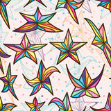 Star style seamless pattern Stock Photo
