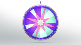 Star style of Wheel fortune. The wheel of fortune or Lucky spin animation was created by Three Dimensional. Video is included the alpha channel and motion loop Stock Illustration