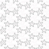 Star stylized line fun seamless pattern for kids and babies. Royalty Free Stock Image