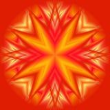 Star su colore rosso Immagine Stock Libera da Diritti