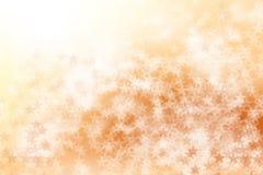 Star sul fondo marrone e bianco, astratto del bokeh Immagine Stock