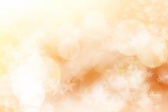 Star sul fondo marrone e bianco, astratto del bokeh Fotografia Stock Libera da Diritti