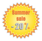 Star for summer discount prices. Vector illustrati Stock Photos
