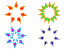 Star Sun Icon. Stylish Abstract Digital bright color logo and graphic art icon star sun sky Royalty Free Stock Photo