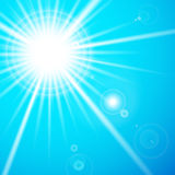 Star and sun with lens flare. Vector illustration of Star and sun with lens flare Royalty Free Stock Photography