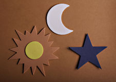 Star sun and moon Royalty Free Stock Photography