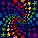 Star swirl burst. Colorful star swirl burst background royalty free illustration