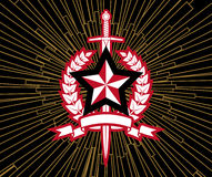 Star And  Sword. Background With Star And  Sword Stock Images