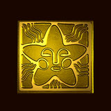 Star symbol. Ancient stylized symbol of the star in bronze royalty free illustration