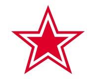 Star symbol. Red star symbol on white background Stock Image