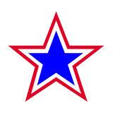 Star symbol. Red white and blue star symbol Stock Images