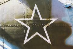 Star, the symbol of Russian Air Force Stock Image