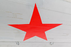 Star, the symbol of Russian Air Force on aircraft Stock Image