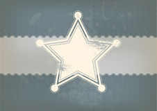 Star symbol with vintage background Stock Images