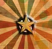 Star symbol on vintage background Royalty Free Stock Photography