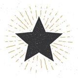 Star symbol vintage label, grunge textured retro badge, typography design vector illustration.  vector illustration