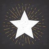 Star symbol vintage label, grunge textured retro badge, typography design vector illustration.  royalty free illustration