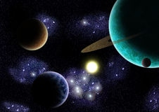 Star System Thetis Stock Images