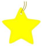 Star tag. Stock Image