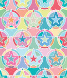 Star target pastel white seamless pattern Royalty Free Stock Photo