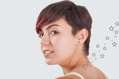 Star tattoo Royalty Free Stock Photos