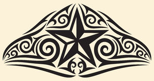 Star tattoo. Star tribal design, star tattoo design Stock Photo