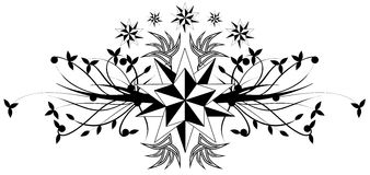 Star tattoo in black and white isolated Royalty Free Stock Photos