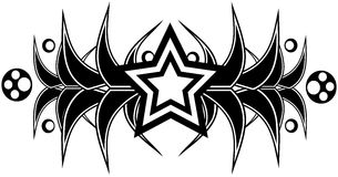 Star tattoo in black and white isolated Stock Photo